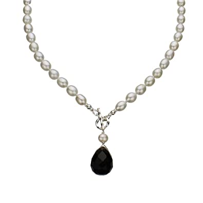 Bella Pearl Double Dangling Pendant Necklace, 21.75-Inch