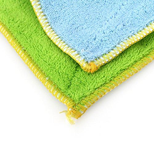 Yosoo Dish Cloth Towel,10 Pack - Bamboo Fiber Dish Towel Kitchen Clean Towels Dishcloth Household Wash Rag, 10.2 x 6.2 by Yosoo (Image #7)