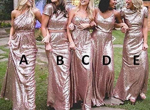 Rose Para Solovedress Gold Mujer Vestido b q86fTt