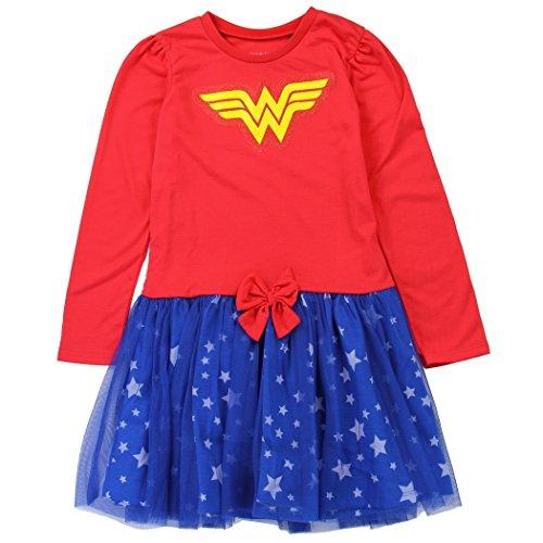 Wonder Woman DC WB Tutu Dress Toddler and Youth Girls (2 Toddler) -