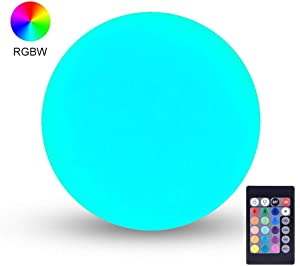 LOFTEK LED Light Ball : 6-inch RGB Lamp with Remote, 16 Colors Changing Floating Pool Lights, 5V Fast USB Charging, IP68 Waterproof Cool Glow Night Light, Perfect for Nursery or Decor Use
