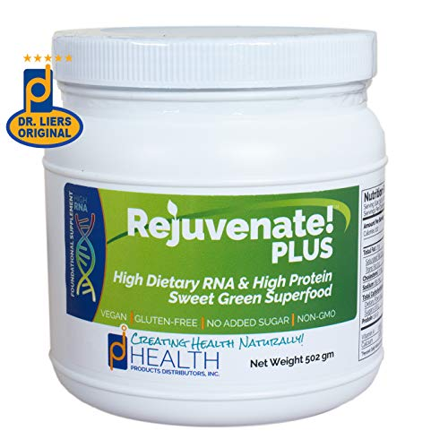 REJUVENATE! Plus (500 gm) - Sweet Green, High-RNA Superfood - High Levels of Dietary Nucleic Acids, Chlorella, Spirulina, Quality Protein | Built-in Multivitamin-Multimineral Complex | D-Ribose