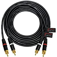 6 Foot RCA Cable Pair - Made with Canare L-4E6S, Star Quad, Audio Interconnect Cable and Neutrik-Rean NYS Gold RCA Connectors - Directional Design - CUSTOM MADE By WORLDS BEST CABLES