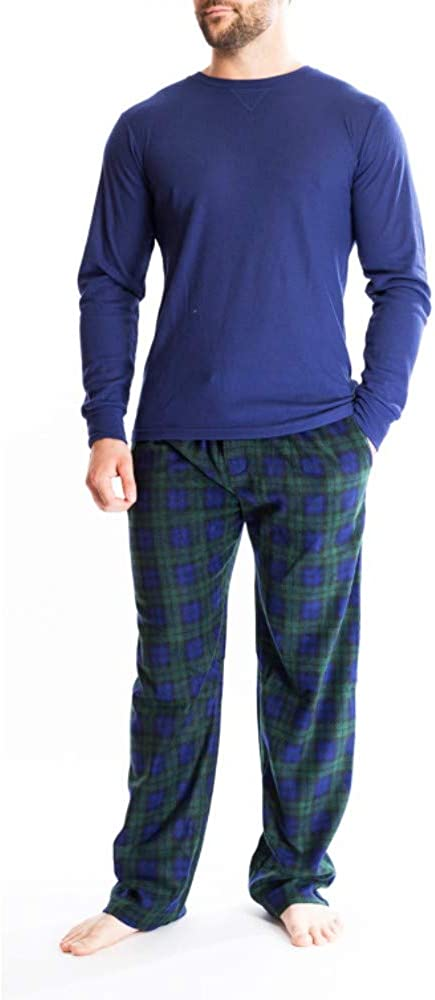 Bottoms Out Men's Extreme Comfort Super Soft Holiday Thermal + Lounge Pant Sleep Set