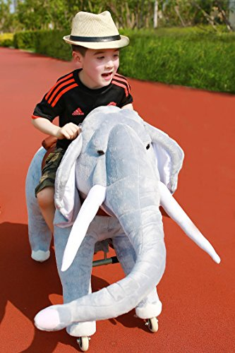 Mechanical Ride on Elephant Simulated Horse Riding on Toy Ride-on Toys :More Comfortable Riding with Gallop Motion for Kids 3-6 Years