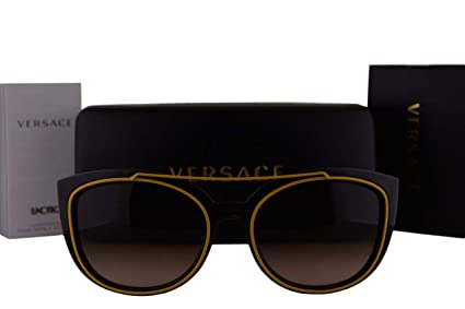 54e0968a0f1c7 Image Unavailable. Image not available for. Color  Versace VE4336 Sunglasses  Havana w Brown ...