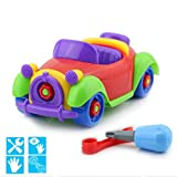 Elloapic Take A Part Toys removable toy Amazing Detachable wecker Play Car Combination Disassembly Toy screwdriver & wrench Toy For Kids Pull Along Screw Building Education Toy