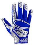 youth football gloves receiver - Cutters Rev 2.0 Receiver Gloves, Pair, Youth,MEDIUM,ROYAL