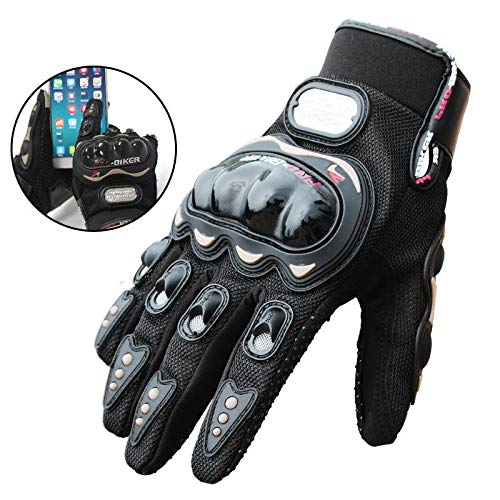 FHJKLLL Gloves Motorcycle Men Touch Screen Motocross Motorbike Full Finger Racing Cycling Sports