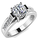 14k White Gold Wedding Engagement Ring CZ Ring Size 7