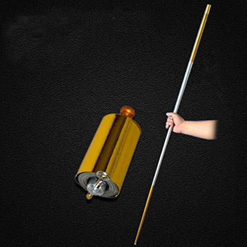 OUERMAMA 1 Pcs 110CM Length Golden Silver Cudgel Metal Appearing Cane Magic Tricks for Professional Magician Stage Street...