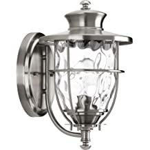 Progress Lighting Beacon Collection Wall-Mount 1-Light Outdoor Stainless Steel Lantern