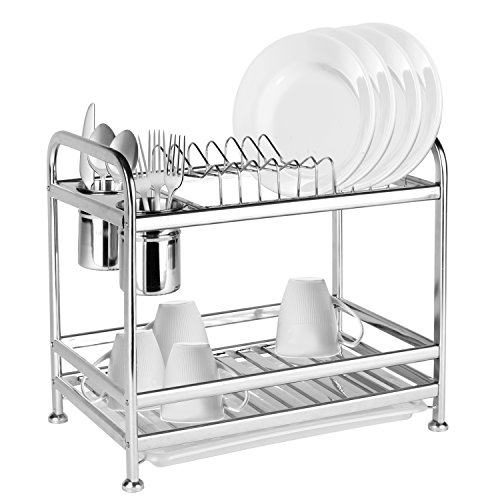 Freestanding Stainless Kitchen Storage Utensil