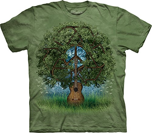 The Mountain Mens Guitar Tree T Shirt  Green  Medium
