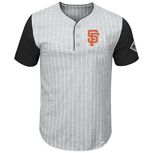 San Francisco Giants Pinstripe Henley T-Shirt - (San Francisco Giants Pinstripe)