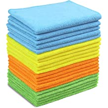20 Pack - SimpleHouseware Microfiber Cleaning Cloth, 4 Colors