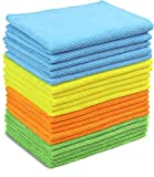Image of 20 Pack - SimpleHouseware Microfiber Cleaning Cloth, 4 Colors