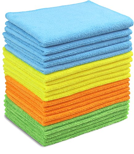 (20 Pack - SimpleHouseware Microfiber Cleaning Cloth, 4 Colors)