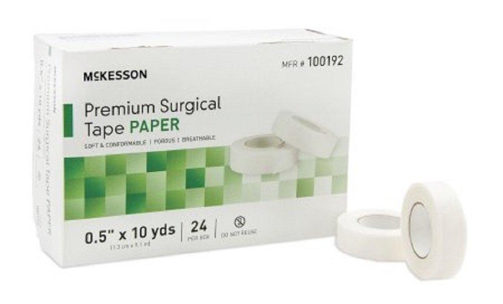 McKesson - Medical Tape McKesson Skin Friendly Paper 1 Inch X 10 Yard White NonSterile - 12/Box - McK