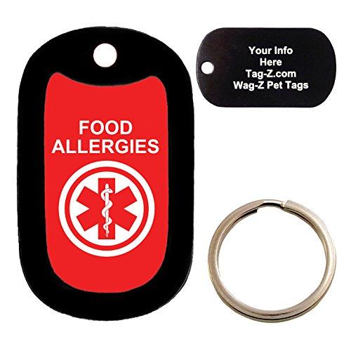 Custom Engraved Pet Tag - medical alert FOOD allergies - Dog Tag - Tag-Z Wag-Z