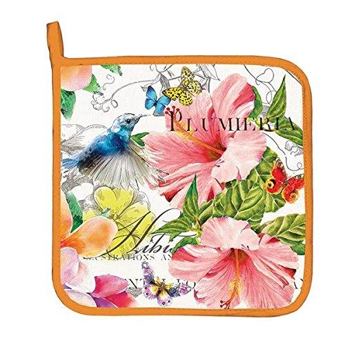 Michel Design Works Cotton Potholder, Paradise (Holder Pot Hummingbird)