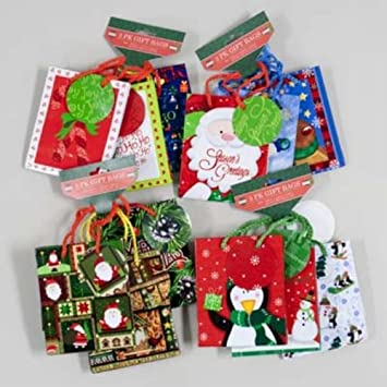 Amazon.com: 3-Pack Mini Christmas Gift Bags, Four Styles (Styles ...