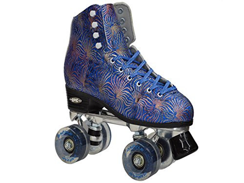 Epic Skates Epic Dazzle Blue High-Top Quad Roller Skates