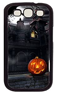 Samsung Galaxy S3 I9300 Case,Samsung Galaxy S3 I9300 Cases - Happy Halloween Pumpkin 7 PC Polycarbonate Hard Case Back Cover for Samsung Galaxy S3 I9300¨CWhite