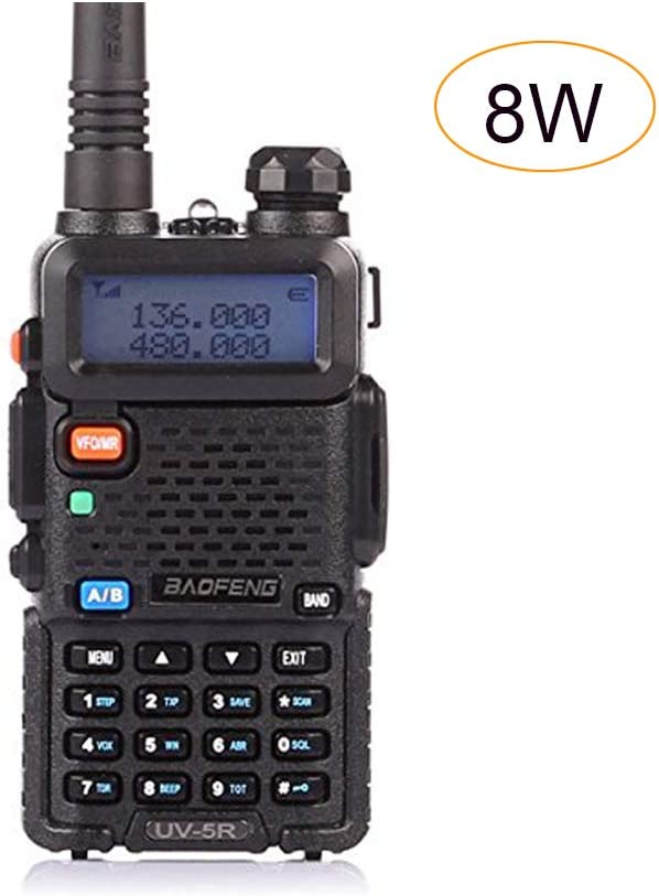 Baofeng Pofung UV-5R 8W Dual-Band Two-Way Ham Radio Transceiver