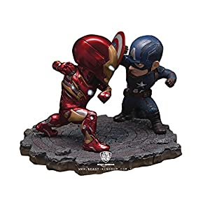 Bandai Hobby Beast Kingdom EA-025 Captain America Vs. Iron Man MK 46 Civil War Statue Action Figure