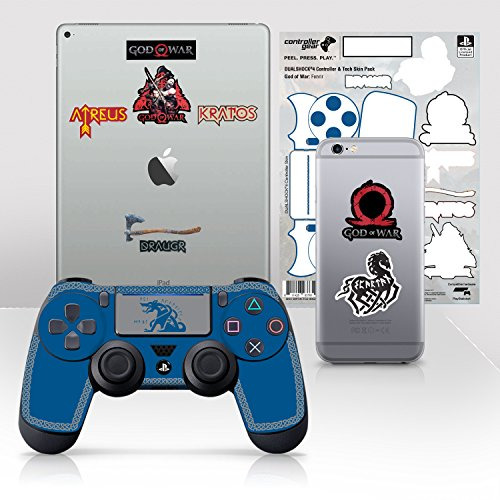 Controller Gear Officially Licensed God of War Dualshock 4 Wireless Controller and Tech Skin Set