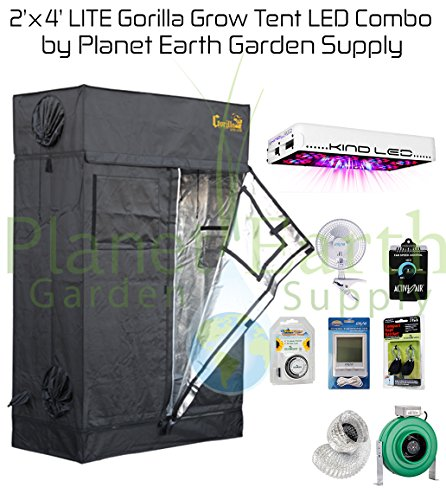 Gorilla Grow Tent LITE (2′ x 4′) LED Combo Package #2 For Sale