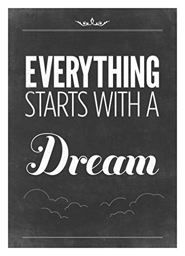 Everything starts with a dream Motivational Quotes for classroom Poster Print Rolled