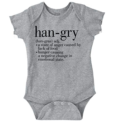 Brisco Brands Hangry Definition Hungry Angry Foodie Baby Romper Bodysuit