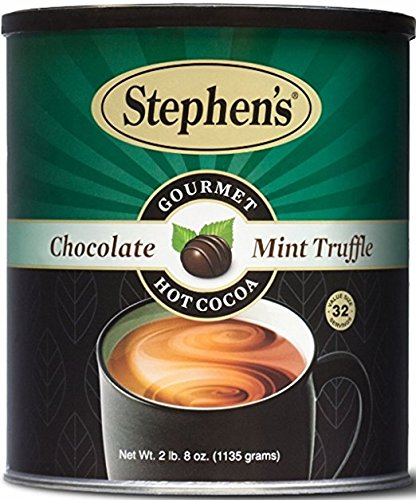 Stephen's Gourmet Hot Cocoa Chocolate, Mint Truffle, 40 - Chocolate Dark Truffles Mint
