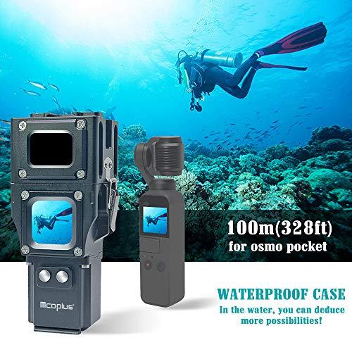 Sodoop Underwater Waterproof Case for DJI Osmo Pocket Camera, Aluminum Alloy Clear Glass Lens Protective Frame,Maximum Diving Depth100m/328ft (Best Underwater Pocket Camera)
