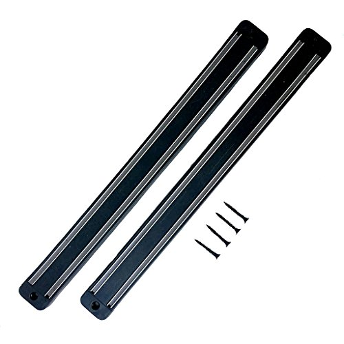 Kitchavo Wall Mount Magnetic Strip Tool Bar - 2 Pack - 13 in.