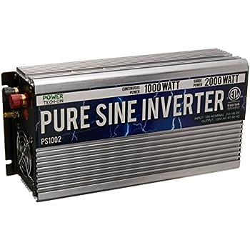 Power TechON PS1002 Pure Sine Wave Inverter (1000W Cont/2000W Peak)
