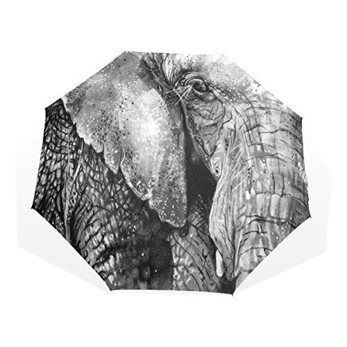 Ye Store Sumatran Elephant Folding umbrella Glass Fiber Umbrella Skeleton Nano Umbrella Cloth