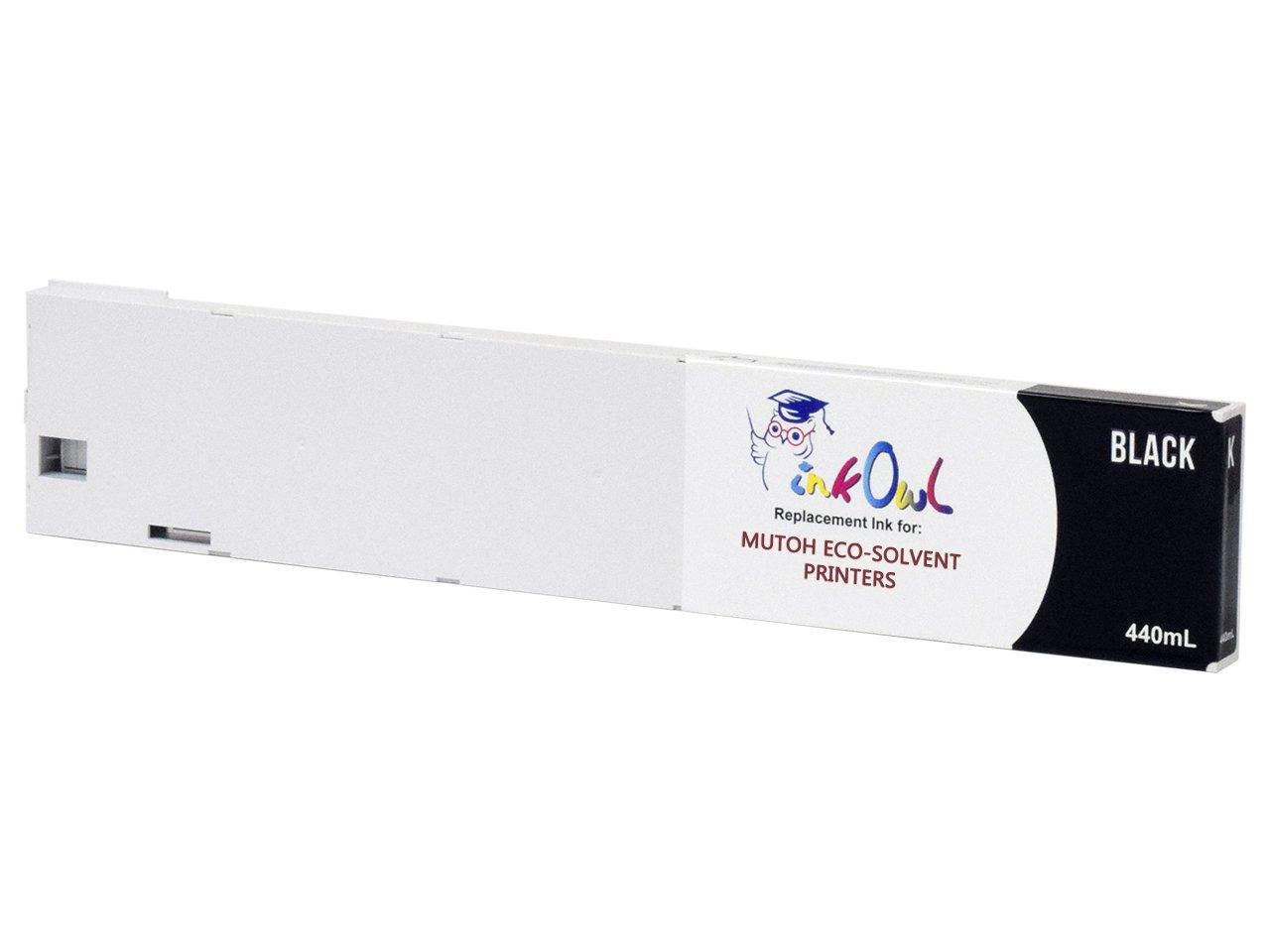 InkOwl – 互換インクカートリッジ交換Mutoh eco-ultraプリンタ(440ml、ブラック) – ヘックスキャップスクリューインク B07BZP76QZ