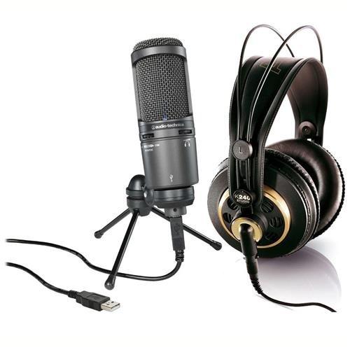 audio-technica-at2020usb-cardioid-condenser-usb-microphone-kit-w-akg-k240-mic