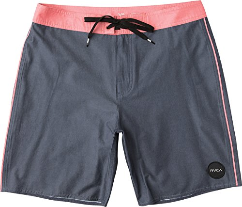 RVCA Men's Smooth Like Trunk, Washed Navy/Red, 32