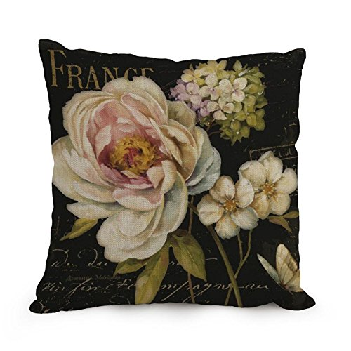 Loveloveu 18 X 18 Inches / 45 By 45 Cm Flower Art Throw Pillow Case ,double Sides Ornament And Gift To Home,seat,family,teens,boy Friend,teens Girls