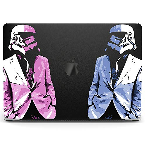 Wonder Wild Case for MacBook Air 13 inch Pro 15 2019 2018 Retina 12 11 Apple Hard Mac Protective Cover Touch Bar 2017 2016 2015 Plastic Laptop Print Fashion Stormtrooper Pink Suit Blue Art Star Wars