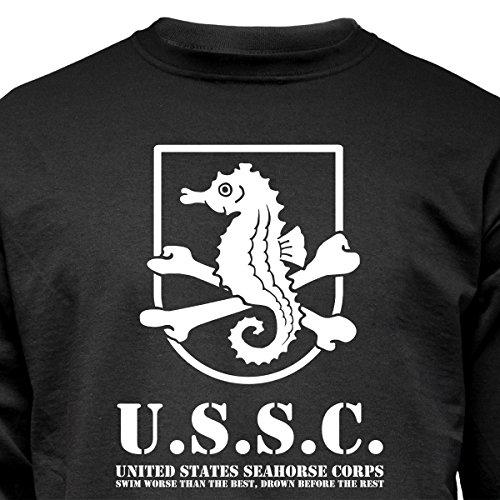 """Nukular Langarm T-Shirt """"USSC Seahorse Corps"""" für alle Seepferdchen-Schwimmer da draußen..."""
