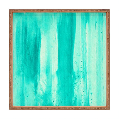 Deny Designs Madart Inc. Modern Dance Aqua Passion Indoor/Outdoor Square Tray, 16 x 16 by Deny Designs