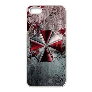 Resident Evil Umbrella A5H45U7BP funda iPhone 5 5s caso funda M0JNA2 blanco
