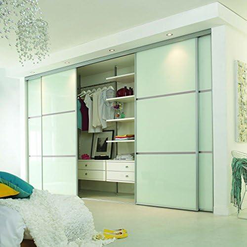 Puerta corredera de armario Set; 4 puerta; a medida lineal 3 Panel ...