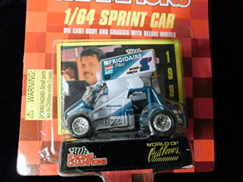 Dean Jacobs Sprint Car (Frigidaire Logo car #1) World of Outlaws 1997 Red Checkered Flag Card 1:64 scale die-cast Racer by Racing Champions