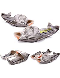 3 Colours Fish slippers Beach Shoes Non-slip Sandals Creative Fish Slippers Men and Women Casual Shoe
